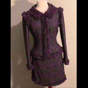 Chanel Wool Blazer and Skirt